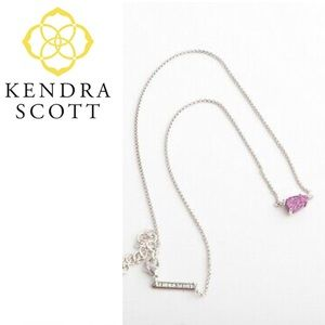 Kendra Scott Helga Necklace Violet Druzy Purple